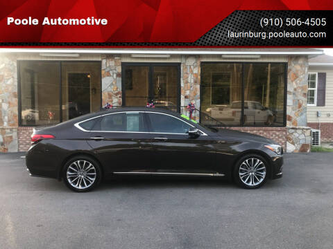 2016 Hyundai Genesis for sale at Poole Automotive in Laurinburg NC