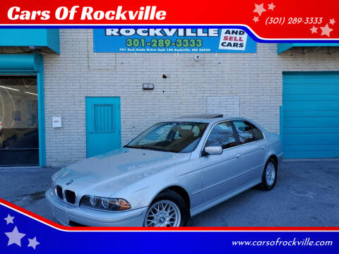 2002 BMW 5 Series for sale at Cars Of Rockville in Rockville MD