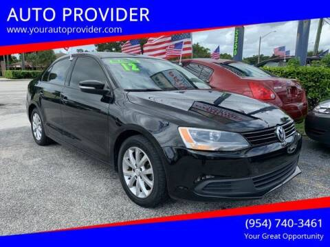 2012 Volkswagen Jetta for sale at AUTO PROVIDER in Fort Lauderdale FL