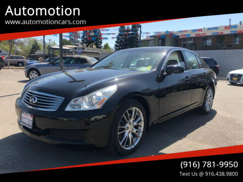2007 Infiniti G35 for sale at Automotion in Roseville CA