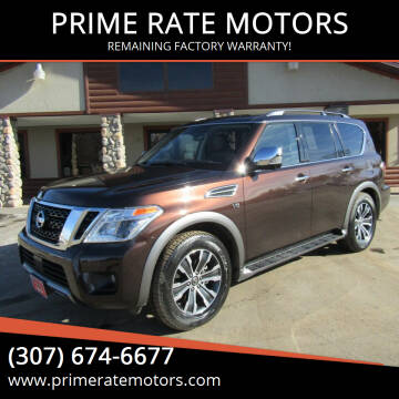 2020 Nissan Armada for sale at PRIME RATE MOTORS in Sheridan WY