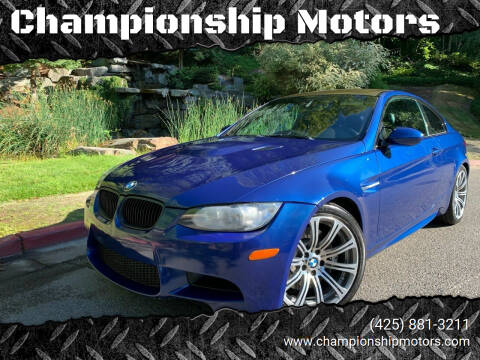 2012 BMW M3 for sale at Championship Motors in Redmond WA