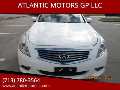 2011 Infiniti G25 Sedan for sale at ATLANTIC MOTORS GP LLC in Houston TX