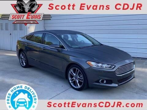2015 Ford Fusion for sale at SCOTT EVANS CHRYSLER DODGE in Carrollton GA