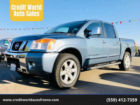 2010 Nissan Titan for sale at Credit World Auto Sales in Fresno CA