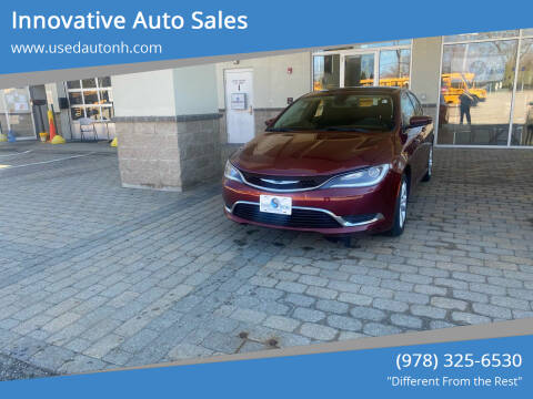 2015 Chrysler 200 for sale at Innovative Auto Sales in North Hampton NH