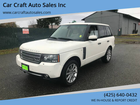 2010 Land Rover Range Rover for sale at Car Craft Auto Sales Inc in Lynnwood WA