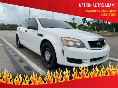 2012 Chevrolet Caprice for sale at Nation Autos Miami in Hialeah FL