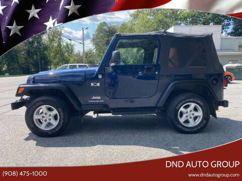 2006 Jeep Wrangler for sale at DND AUTO GROUP in Belvidere NJ