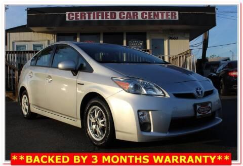 2010 Toyota Prius for sale at CERTIFIED CAR CENTER in Fairfax VA