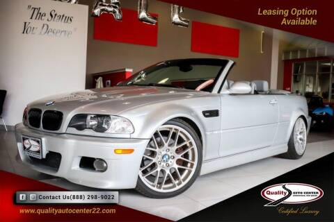 2002 BMW M3 for sale at Quality Auto Center in Springfield NJ