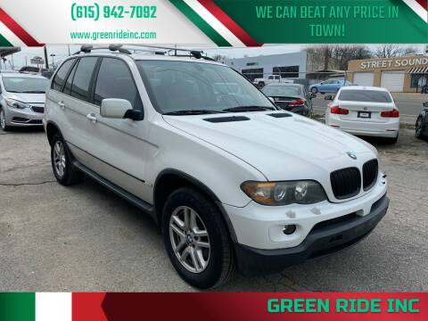 2004 BMW X5 for sale at Green Ride Inc in Nashville TN