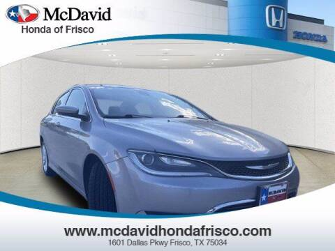 2016 Chrysler 200 for sale at DAVID McDAVID HONDA OF IRVING in Irving TX
