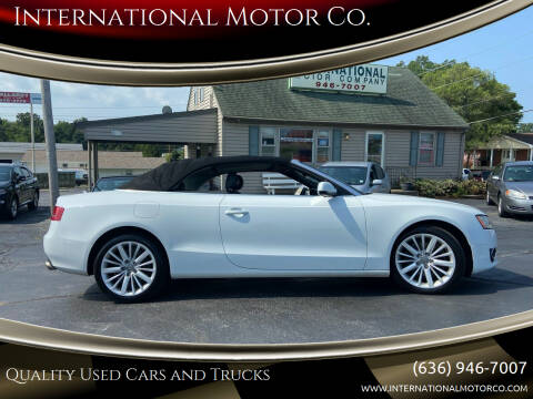 2012 Audi A5 for sale at International Motor Co. in Saint Charles MO