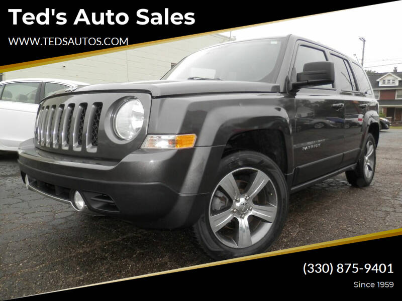 2017 Jeep Patriot for sale at Ted's Auto Sales in Louisville OH