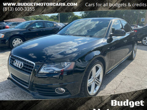 2009 Audi A4 for sale at Budget Motorcars in Tampa FL