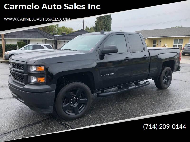 2015 Chevrolet Silverado 1500 for sale at Carmelo Auto Sales Inc in Orange CA