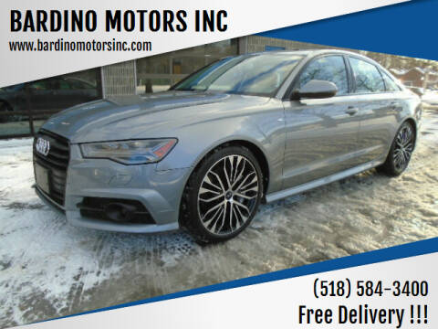 2018 Audi A6 for sale at BARDINO MOTORS INC in Saratoga Springs NY