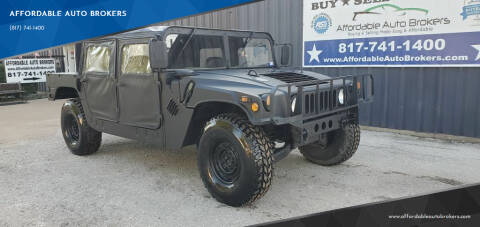 1993 HUMMER H1 for sale at AFFORDABLE AUTO BROKERS in Keller TX