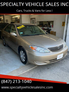 2003 Toyota Camry for sale at SPECIALTY VEHICLE SALES INC in Skokie IL