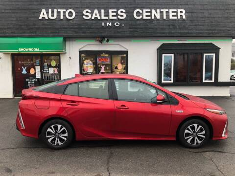 2017 Toyota Prius Prime for sale at Auto Sales Center Inc in Holyoke MA