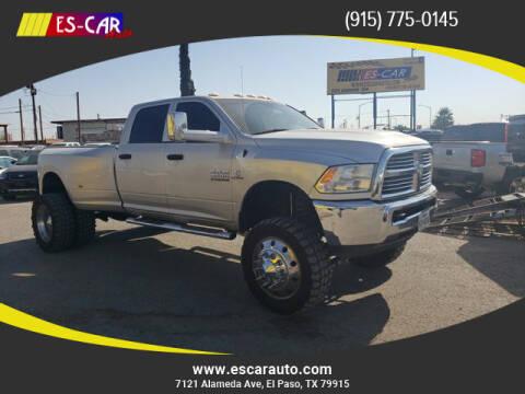 2016 RAM Ram Pickup 3500 for sale at Escar Auto in El Paso TX