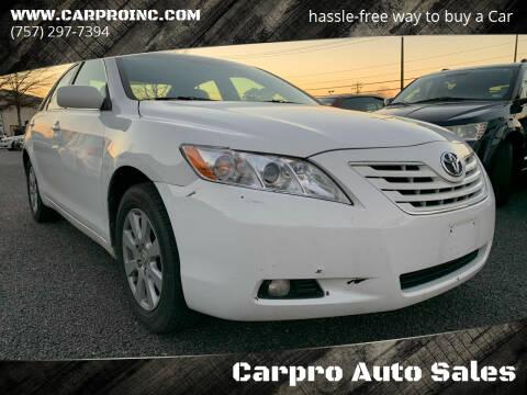 2009 Toyota Camry for sale at Carpro Auto Sales in Chesapeake VA