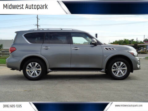 2017 Infiniti QX80 for sale at Midwest Autopark in Kansas City MO
