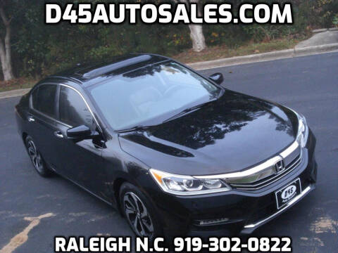 2016 Honda Accord for sale at D45 Auto Brokers in Raleigh NC