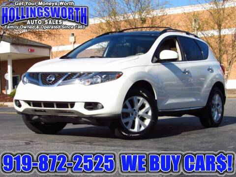2012 Nissan Murano for sale at Hollingsworth Auto Sales in Raleigh NC