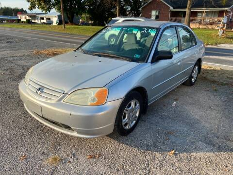 2002 Honda Civic for sale at US5 Auto Sales in Shippensburg PA