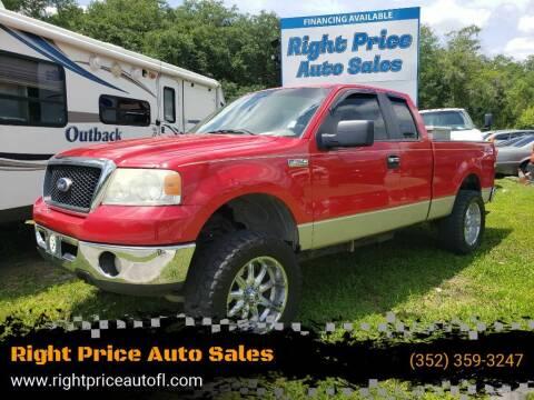 2007 Ford F-150 for sale at Right Price Auto Sales in Waldo FL