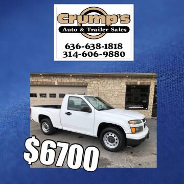 2011 Chevrolet Colorado for sale at CRUMP'S AUTO & TRAILER SALES in Crystal City MO