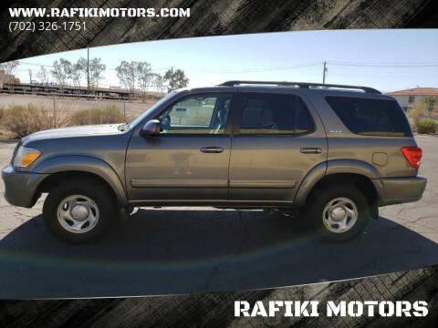 2005 Toyota Sequoia for sale at RAFIKI MOTORS in Henderson NV