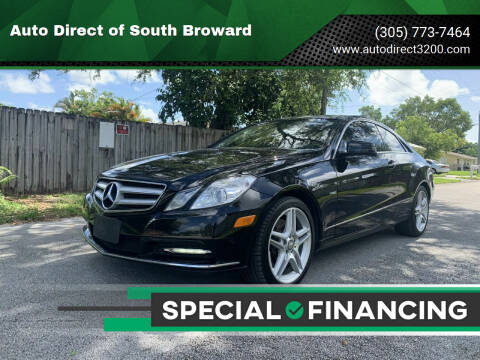 2012 Mercedes-Benz E-Class for sale at Auto Direct of South Broward in Miramar FL
