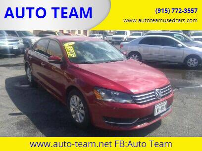 2015 Volkswagen Passat for sale at AUTO TEAM in El Paso TX