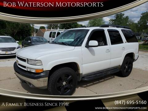 2002 Chevrolet Tahoe for sale at Bob Waterson Motorsports in South Elgin IL