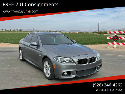 2015 BMW 5 Series for sale at FREE 2 U Consignments in Yuma AZ