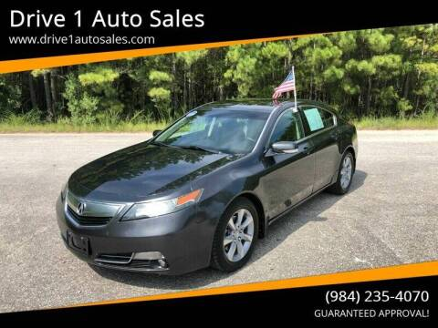 2012 Acura TL for sale at Drive 1 Auto Sales in Wake Forest NC