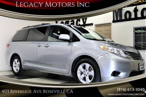 2015 Toyota Sienna for sale at Legacy Motors Inc in Roseville CA
