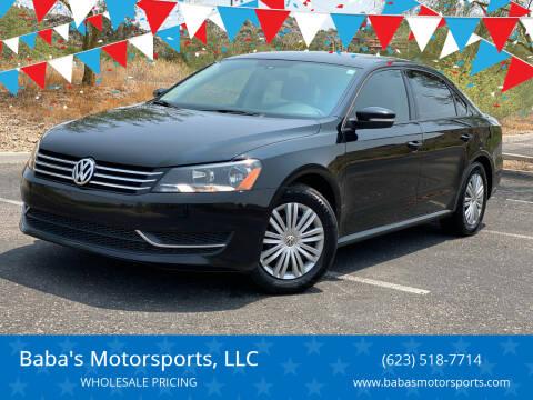 2014 Volkswagen Passat for sale at Baba's Motorsports, LLC in Phoenix AZ