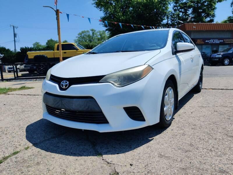2014 Toyota Corolla for sale at Lamarina Auto Sales in Dearborn Heights MI