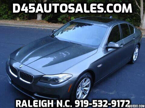 2014 BMW 5 Series for sale at D45 Auto Brokers in Raleigh NC