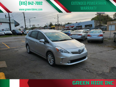 2013 Toyota Prius v for sale at Green Ride Inc in Nashville TN