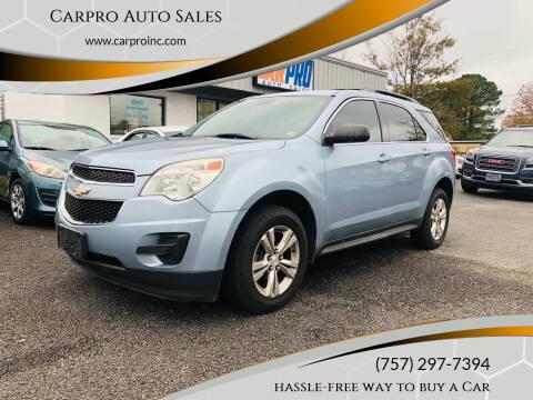 2014 Chevrolet Equinox for sale at Carpro Auto Sales in Chesapeake VA
