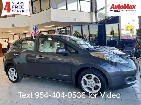 2013 Nissan LEAF for sale at Auto Max in Hollywood FL