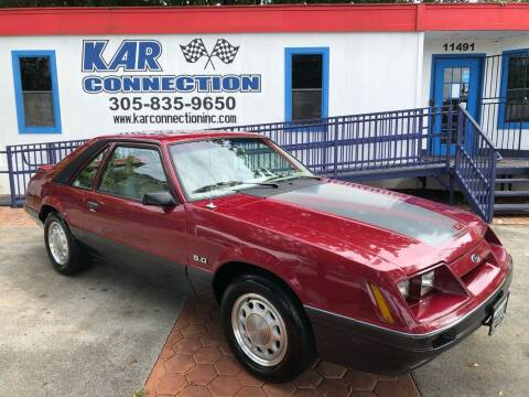 1985 Ford Mustang for sale at Kar Connection in Miami FL