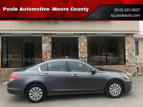 2011 Honda Accord for sale at Poole Automotive in Laurinburg NC