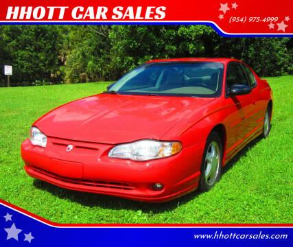 2002 Chevrolet Monte Carlo for sale at HHOTT CAR SALES in Deerfield Beach FL