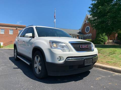 2009 GMC Acadia for sale at Automax of Eden in Eden NC